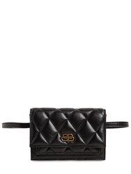Balenciaga Xs Sharp Quilted Leather Belt Bag Black