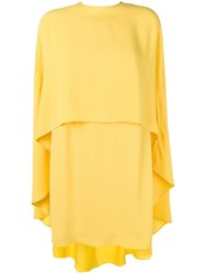 Sara Battaglia Cape Dress Yellow