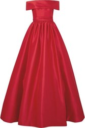 Reem Acra Off The Shoulder Mikado Gown Red