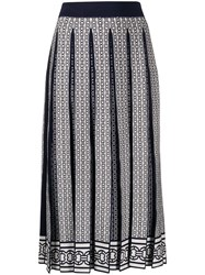 Tory Burch Pleated Chain Link Pattern Skirt 60
