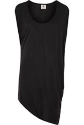 Haute Hippie Asymmetric Modal Jersey Mini Dress Black