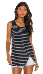 Frank And Eileen Tee Lab Relaxed Asymmetric Tank In Navy. British Royal Navy And White Stripe