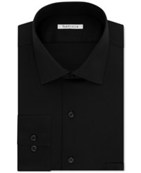 Van Heusen Men's Classic Fit Wrinkle Free Flex Collar Stretch Solid Dress Shirt Black