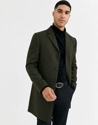 Rudie Premium Wool Blend Overcoat Green
