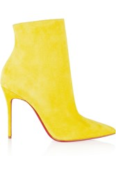 Christian Louboutin So Kate 100 Suede Ankle Boots Yellow