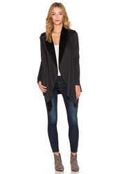 Bobi Bonded Fur Cardigan Black