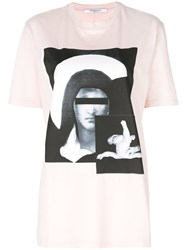 Givenchy Oversized Madonna Print T Shirt Cotton Xs Pink Purple