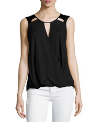 Ella Moss Sleeveless Cutout Detail Top Black
