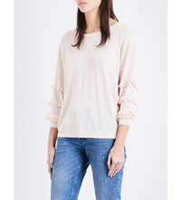 Claudie Pierlot Moon Knitted Jumper Poudre