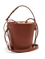 J.W.Anderson Bucket Leather And Canvas Tote Tan