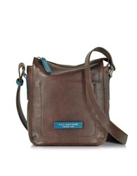 The Bridge Plume Mix Uomo Dark Brown Leather Crossbody Bag