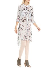 Vince Camuto Painterly Muses Two Pocket Tunic New Ivory