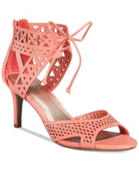 Impo Viddette Lace Up Dress Sandals Women's Shoes Apricot