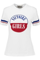 Etre Cecile Victoire Printed Cotton Jersey T Shirt White