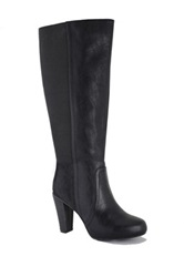 Intaglia Venice Wide Calf Dress Boot Black