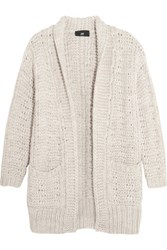 Line Curtis Open Knit Cardigan Light Gray