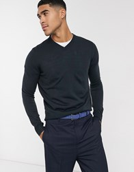 Rudie V Neck Jumper Navy