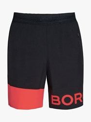 Bjorn Borg Archer Training Shorts Black Diva Pink
