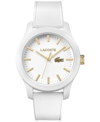 Lacoste Unisex 12.12 White Silicone Strap Watch 43Mm 2010819