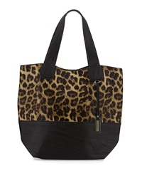 Urban Originals Coogee Leopard Print Tote Bag Black Leopard