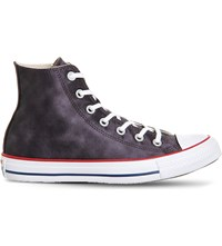 Converse All Star Canvas Hi Top Trainers Black Sheenwash