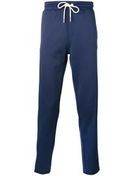 Moncler Drawstring Track Pants Blue