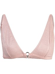 Fleur Du Mal Built Up Bikini Top Pink