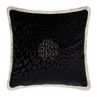Roberto Cavalli Monogram Cushion Black