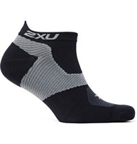 2Xu Race Vectr Compression No Show Socks Back Black