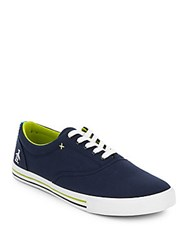 Penguin Buckley Round Toe Lace Up Sneakers Navy
