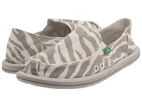 Sanuk I'm Game Zebra Grey Women's Slip On Shoes Animal Print