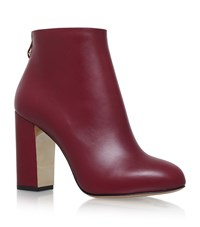 Charlotte Olympia Alba Ankle Boots Female Wine