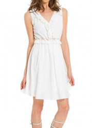 Leon Max Embellished Gauze Dress