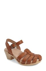 Women's Dansko 'Milly' Clog Sandal Camel Leather