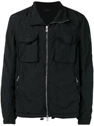 Belstaff Zipped Shirt Jacket Black