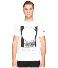 Mcq By Alexander Mcqueen Abstract Short Sleeve T Shirt Optic White
