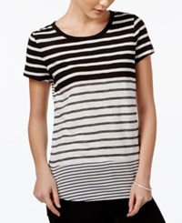 Maison Jules Striped Short Sleeve T Shirt Only At Macy's Egret Combo