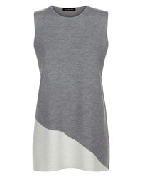 Jaeger Wool Milano Colour Block Tunic Grey