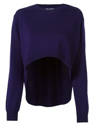 Opening Ceremony Asymmetric Hem Jumper Pink And Purple