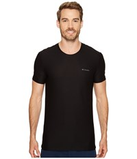 Columbia Diamond Mesh Crew Neck Tee Single Black Men's T Shirt