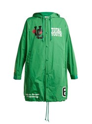 Undercover Total Youth Hooded Raincoat Green