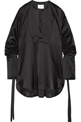Georgia Alice Moon Sisters Oversized Satin Blouse Black