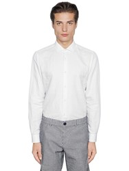 Z Zegna Washed Cotton And Linen Blend Shirt