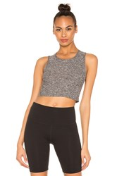 Beyond Yoga Featherweight Top Notch Cropped Tank Gray