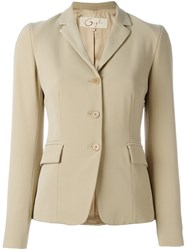 Romeo Gigli Vintage Classic Jacket Nude And Neutrals