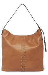 Sole Society Bayle Faux Leather Shoulder Bag Brown Cognac