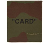 Off White Quote Card Holder Green