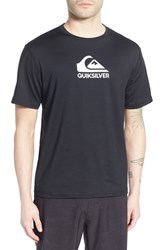 Men's Quiksilver 'Solid Streak' Short Sleeve Rash Guard Black