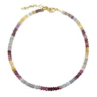 Dripping In Gems Paris Collection Single Strand Multi Colored Sapphire Necklace