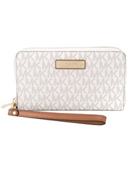 Michael Michael Kors Zip Around Phone Pouch Nude And Neutrals